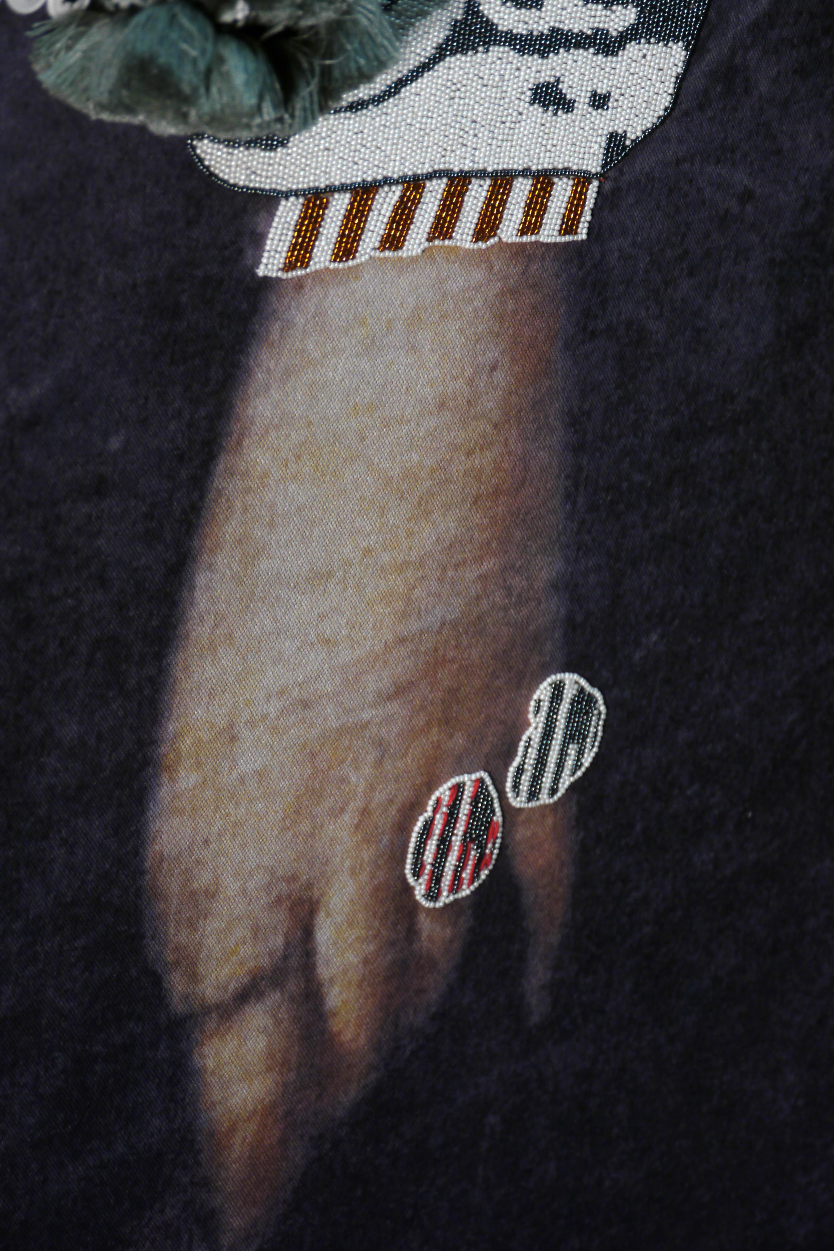 Souvenir hispanique, Aurélie Mathigot Photographie, broderie 62 x 45 cm © Aurélie Mathigot Courtesy Maison Parisienne