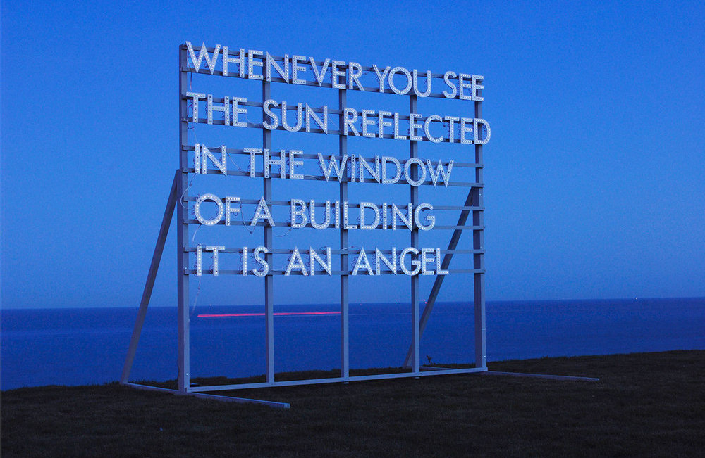 Whenever you see the sun, 2010 © Robert Montgomery