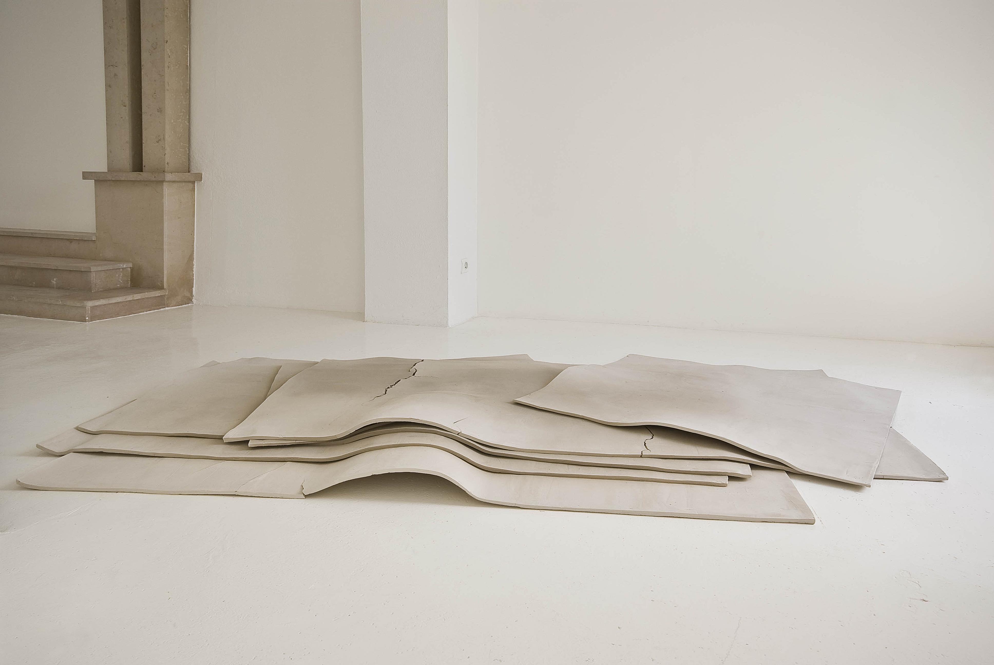 Sechs Flächen und ein Raum, 2008. Argile. 280 x 160 cm Courtesy Galerie Jocelyn Wolff et Katinka Bock. Photo Olivier Dancy