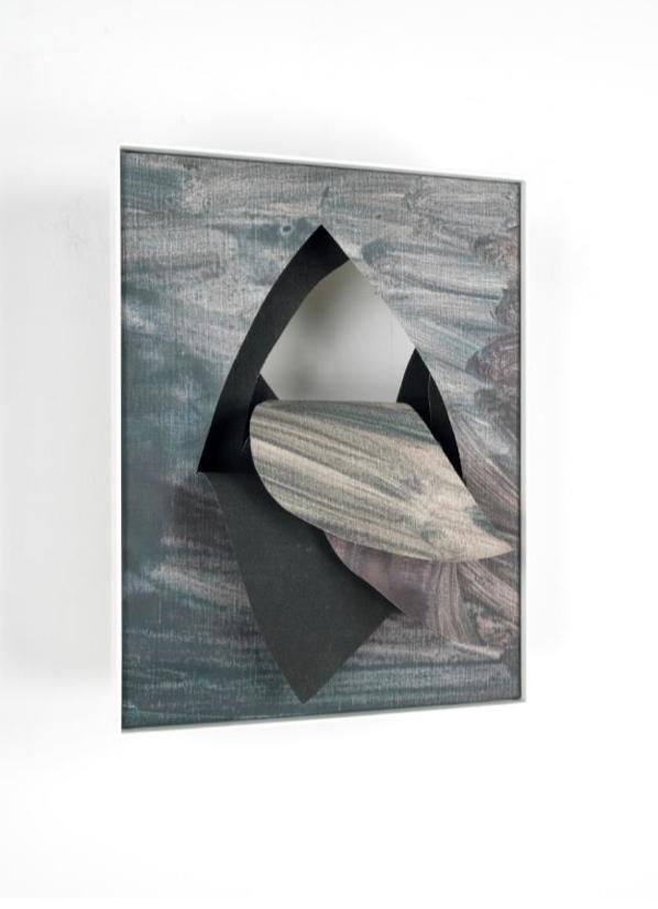 Georgia Russell Sans titre (New Painting I) 2019 Acrylique et gouache sur toile 40 x 30 x 6 cm
