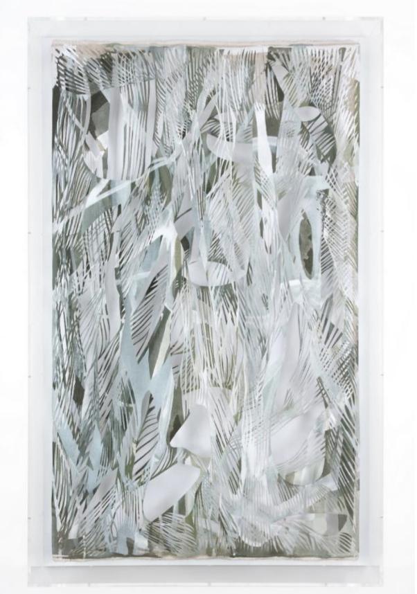 Georgia Russell Replica I 2019 Acrylique et gouache sur toile 164 x 100 x 16 cm