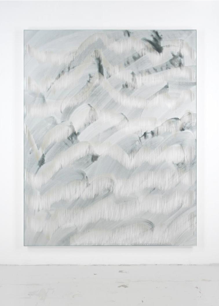 Georgia Russell Sans titre (blue I) 2019 Acrylique et gouache sur toile 250 x 200 x 9 cm
