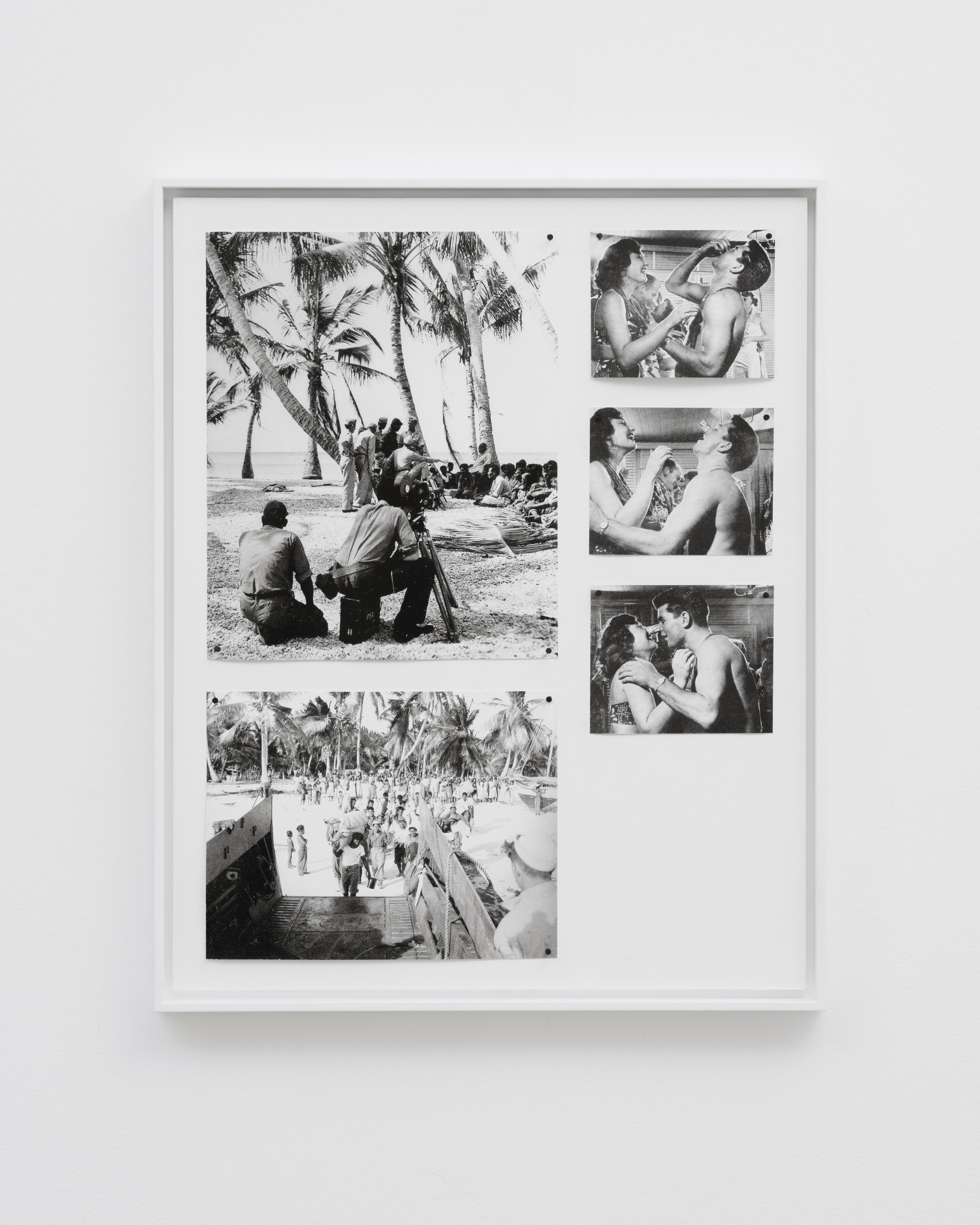 BenoîtJeannet, glaire Eric Mouchet,Sans Titre Images d'archives extraites de; the National Archive & Records Administration et Life Magazine, Decembre 1951 40x50cm – 50x70cm editon de 1+2AP