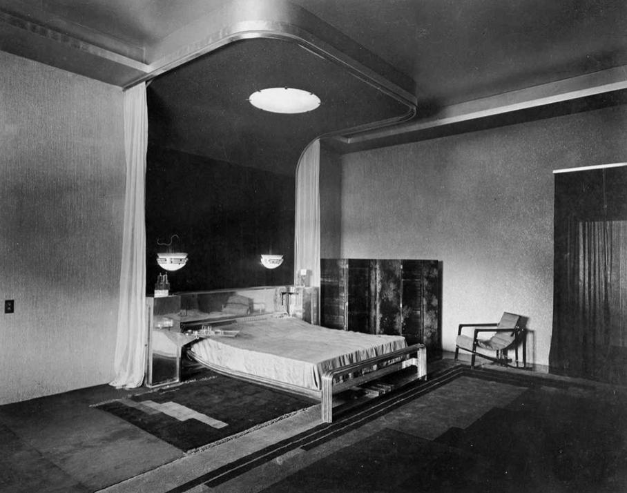 Eckart Muthesius, Chambre du maharajah vers 1933 © Collection Vera Muthesius / Adagp, Paris, 2019