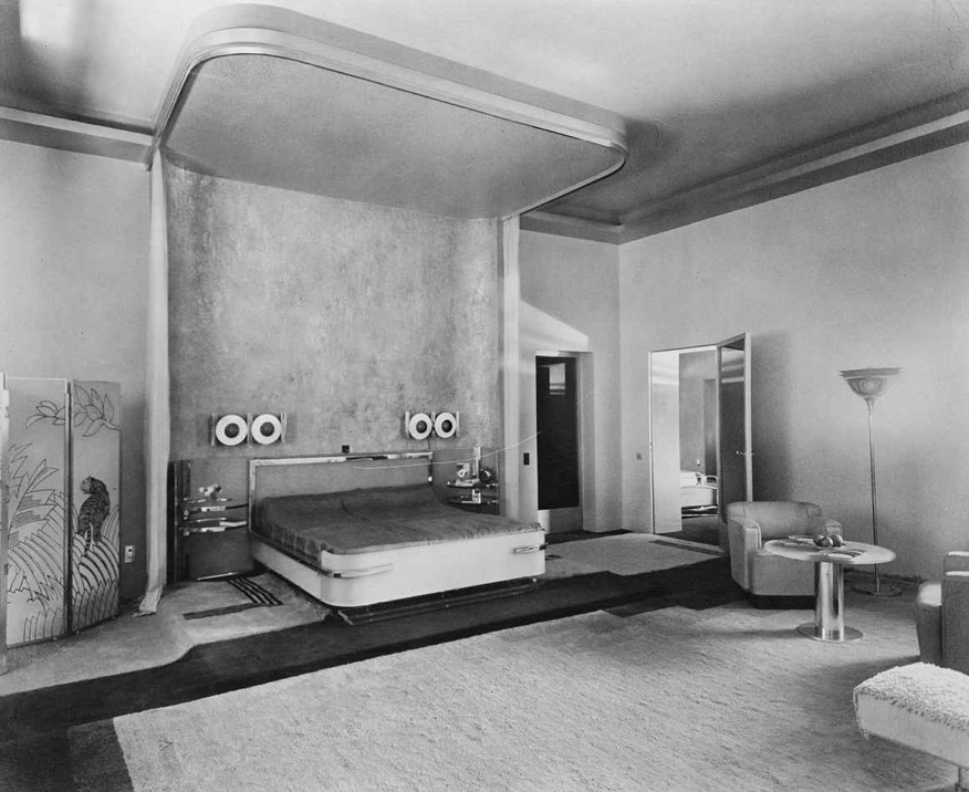 Eckart Muthesius, Chambre de la maharani, vers 1933 © Collection Vera Muthesius / Adagp, Paris, 2019
