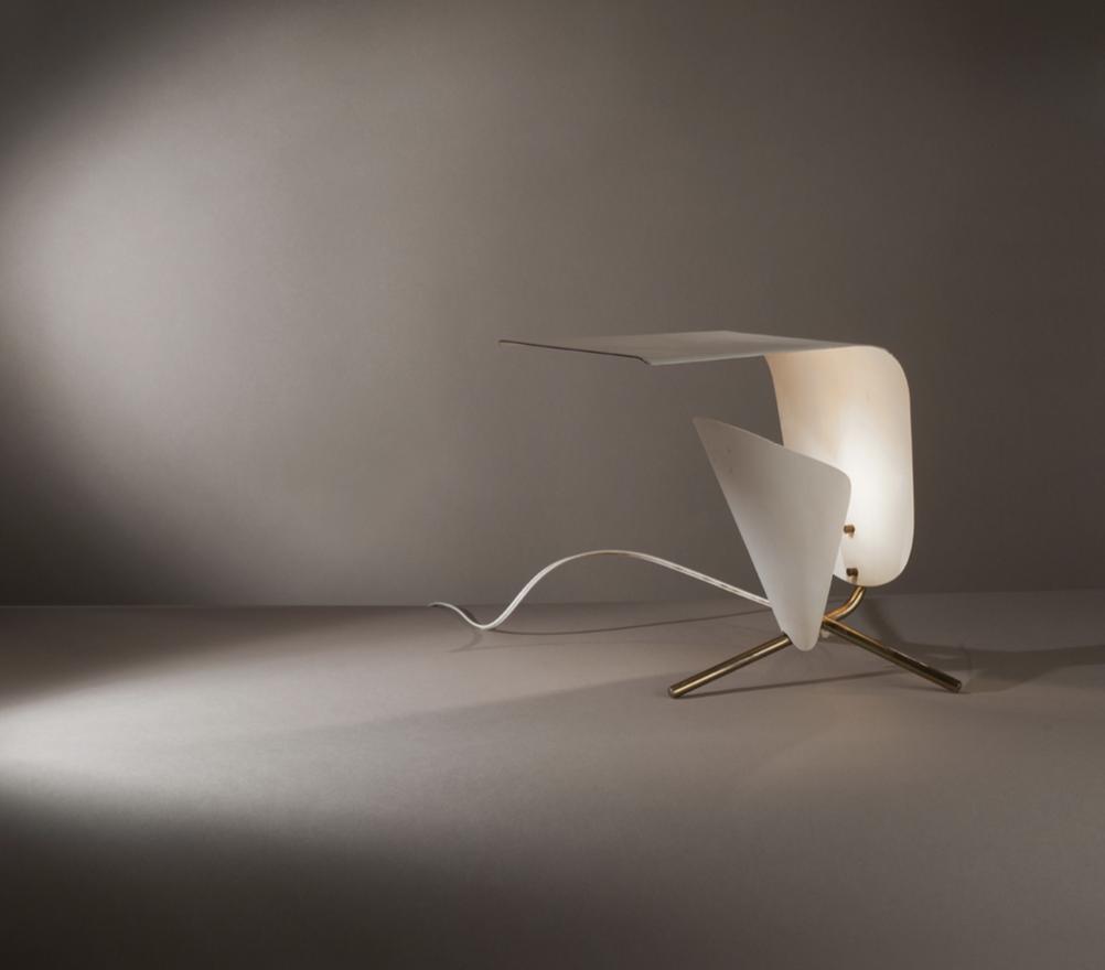 Lampe modèle B 204 de Michel Buffet Edition Luminalite France, 1954 H. 32 cm