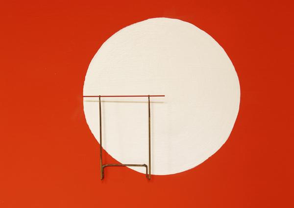 Miller Levy, 'Minimalismes' – 2007 acrylique sur médium, laiton et mines 22 x 28 x 2,5 cm Collection privée
