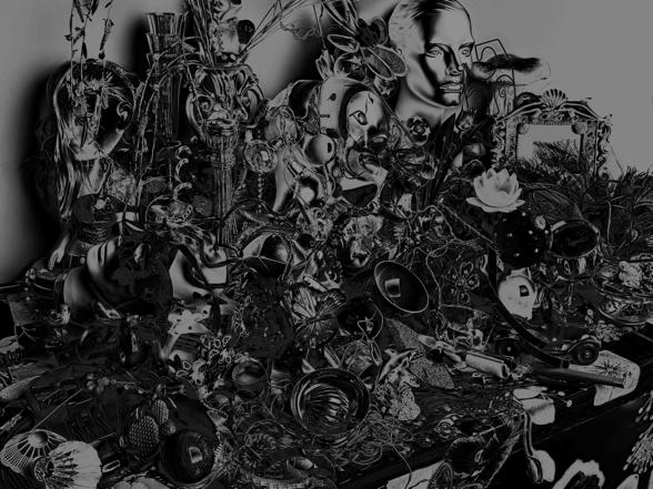 Valérie Belin, Image précédenteImage suivante 8/18 Still Life with bowl (14020201) 2014 Pigment print on Enhamced Epson paper 186 x 237,5 x 6 cm / 73,2 x 93,5 x 2,4 in
