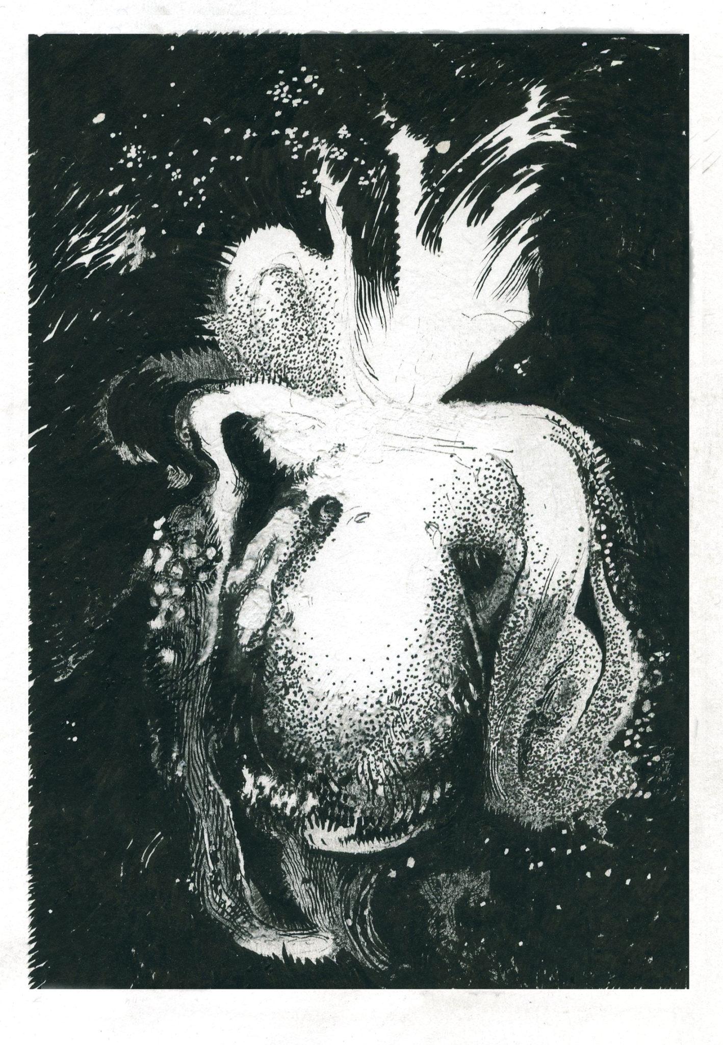 Julien Tiberi, Sans titre, 2019_Graphite et encre sur papier, 17,5 x 12 cm_Courtesy Semiose, Paris