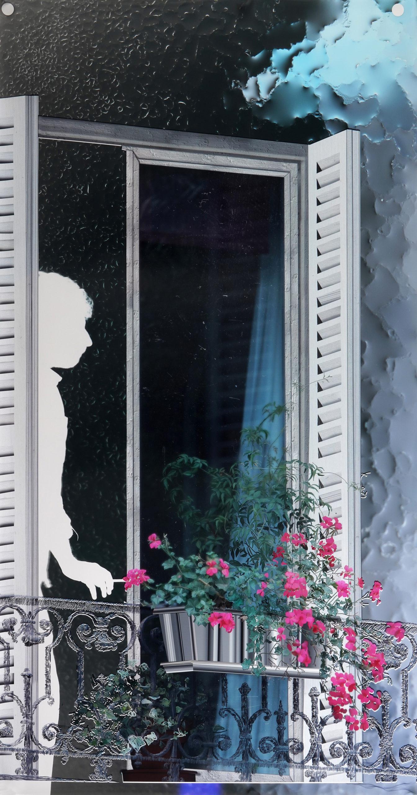 Baptiste Rabichon, «70 boulevard Saint-Marcel», 2017, 240 x 217 cm, série «Les balcons», épreuve chromogène unique, courtesy galerie Paris-Beijing, Paris.