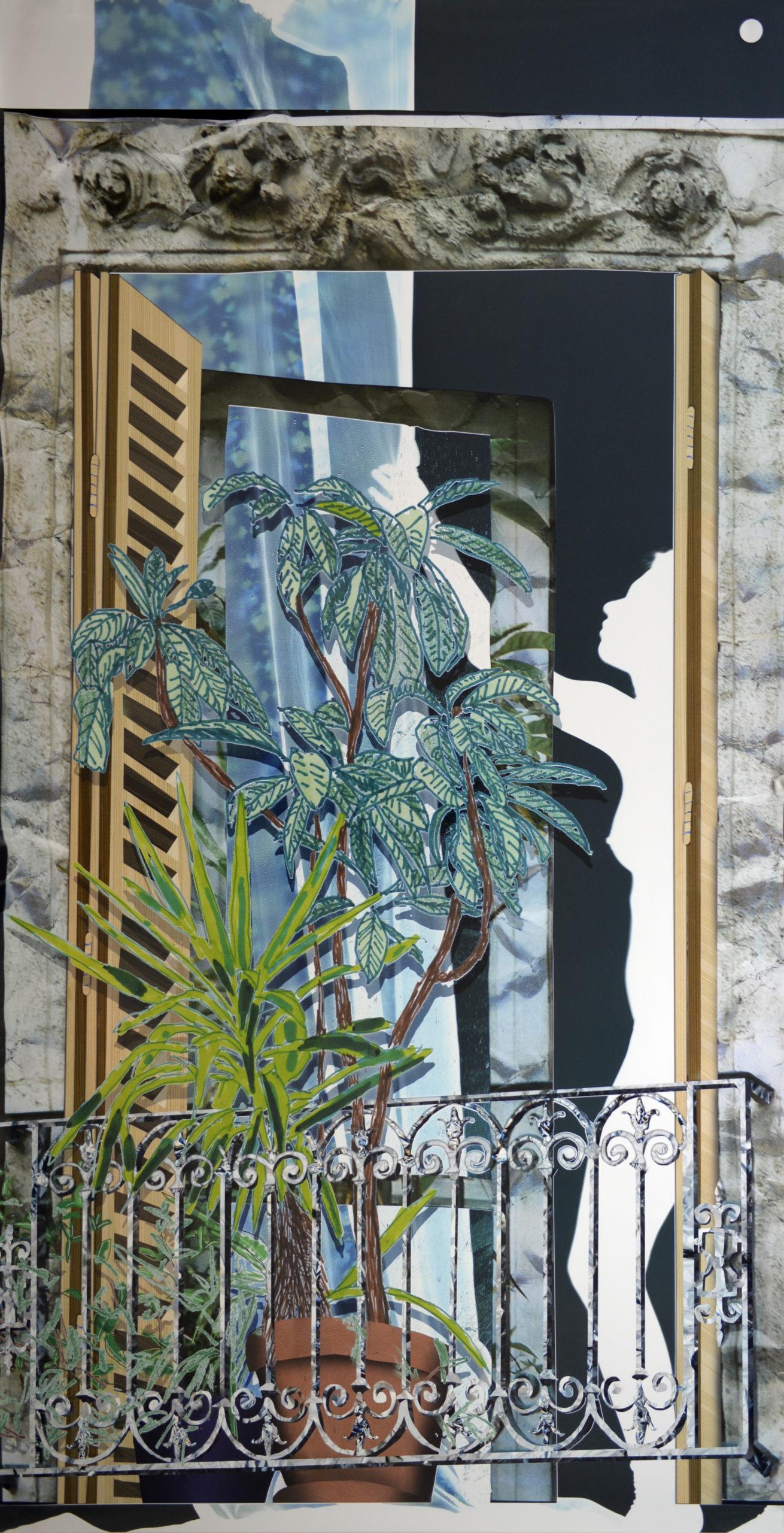 Baptiste Rabichon, «82 boulevard Saint-Marcel», série «Les Balcons», épreuve chromogène unique,  2017, 250 x 127 cm», Courtesy galerie Paris-Beijing, Paris.