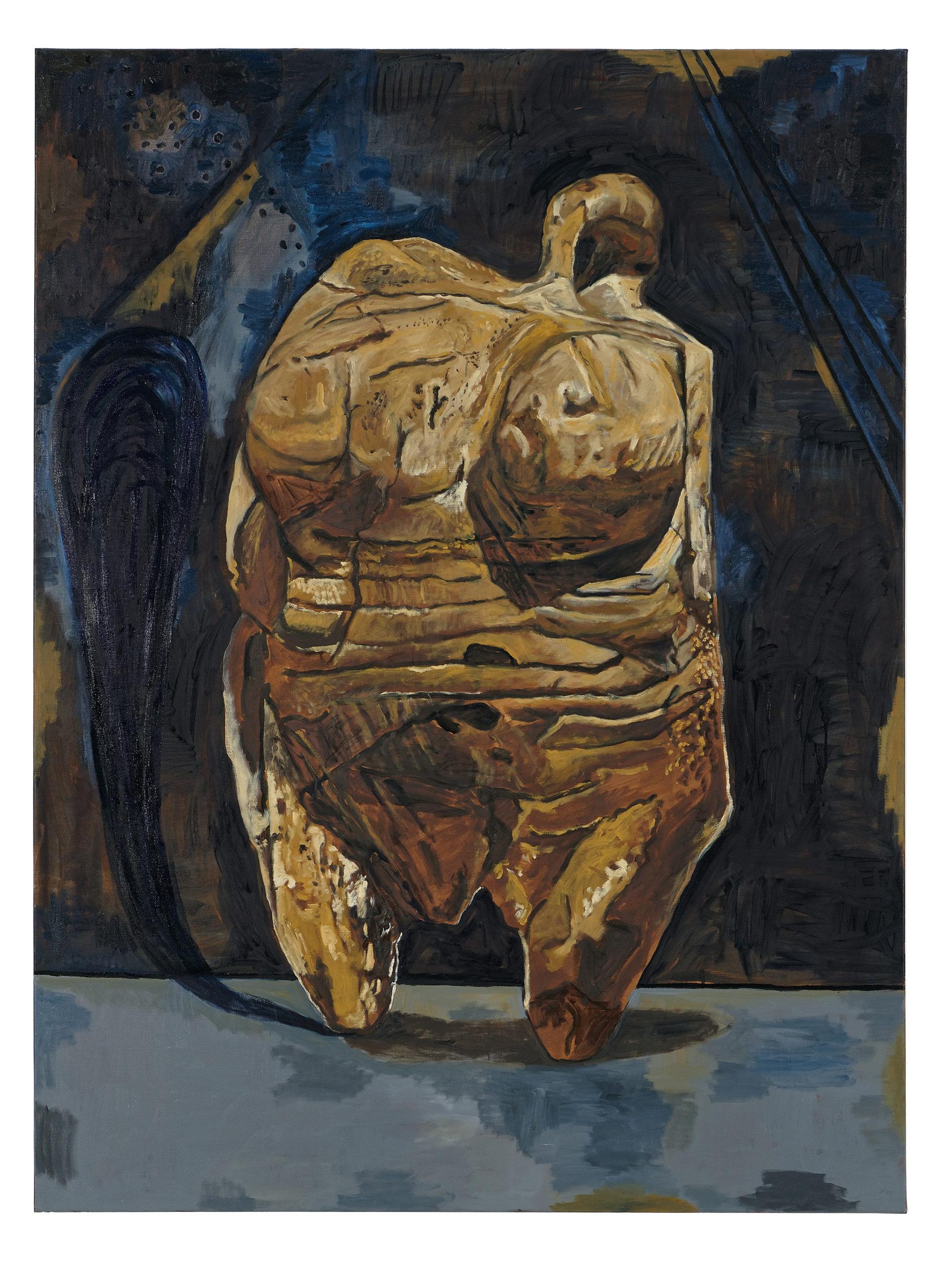Damien Deroubaix, Mutti, 2018, 200 x 150 cm © Blaise Adilon, MAMC+ Saint-Etienne : Adagp, Paris, 2020, courtesy de l'artiste et galerie In Situ – fabienne leclerc, Grand Paris