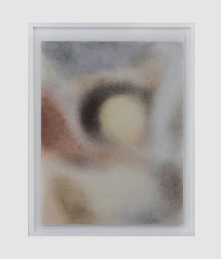 Léa Belooussovitch, Houla, Syrie, 25 mai 2012 (brown+blanket), dessin aux crayons de couleurs sur feutre textile, 60x80cm, 2018, galerie Paris-Beijing