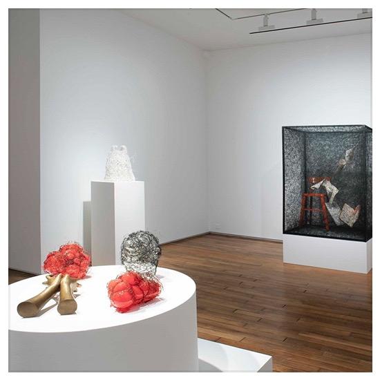 Chiharu Shiota, courtesy galerie Templon Paris, Vue de l'exposition Inner Universe