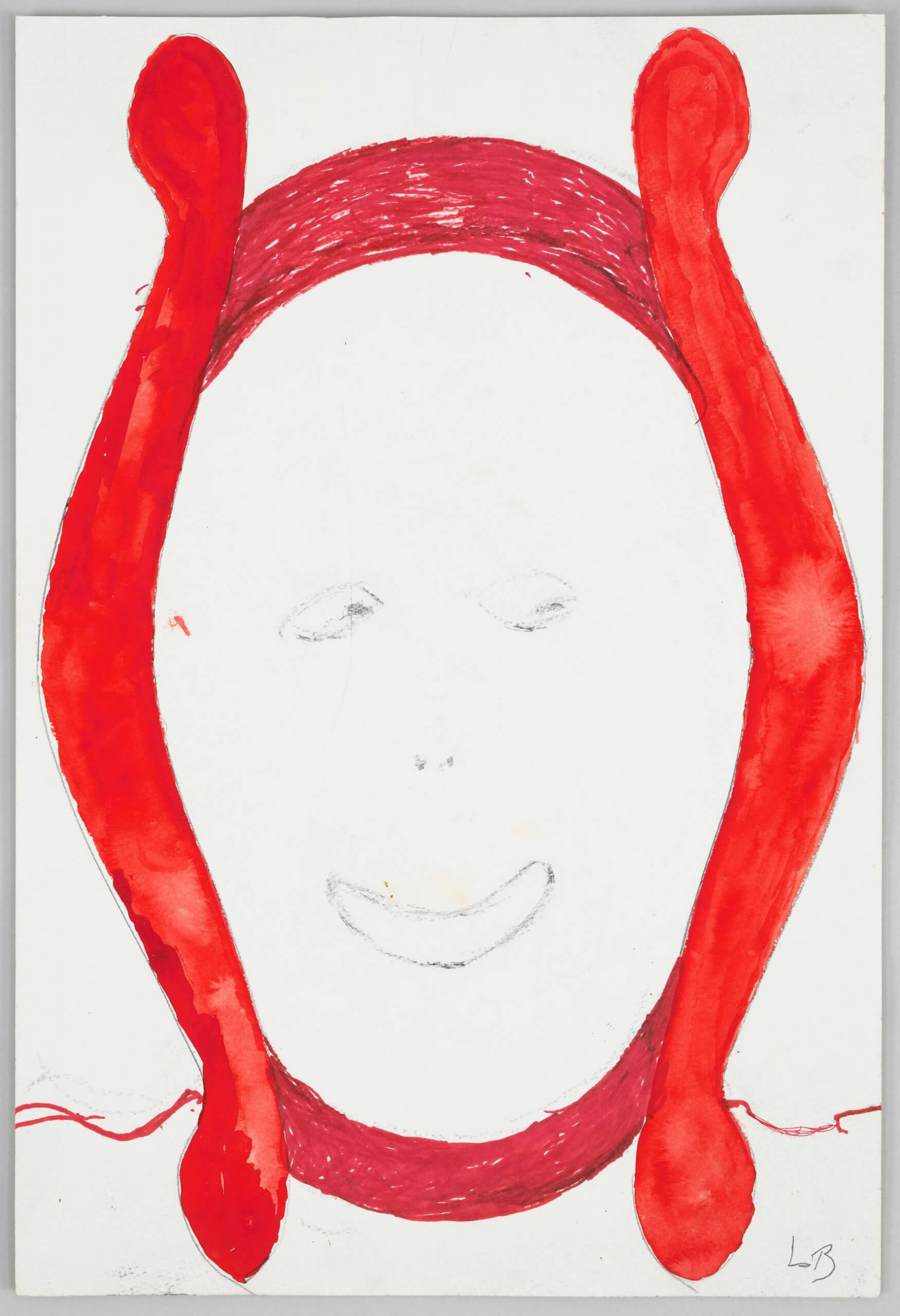 Untitled Louise Bourgeois 1997 Watercolor, ink and charcoal on paper, courtesy Hauser & Wirth