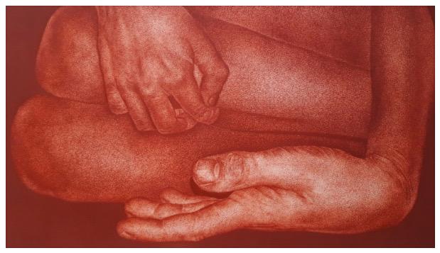 Gisèle Bonin, sanguine sur papier, 2029, collection particulière