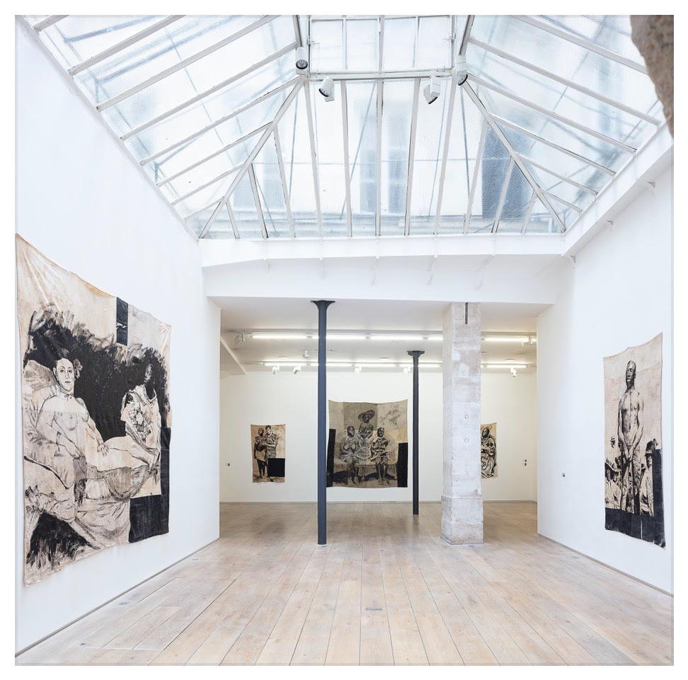 Roméo Mivekannin - vue d'exposition, juin 2020 © galerie Eric Dupont, Paris.