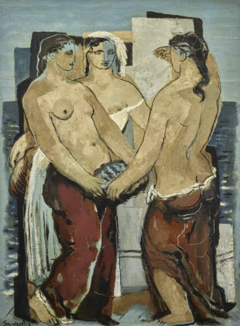 Jean Souverbie Le bonheur du marin 1927 Huile sur toile signée en bas à gauche 81,5 x 60, courtesy galerie ARY JAN
