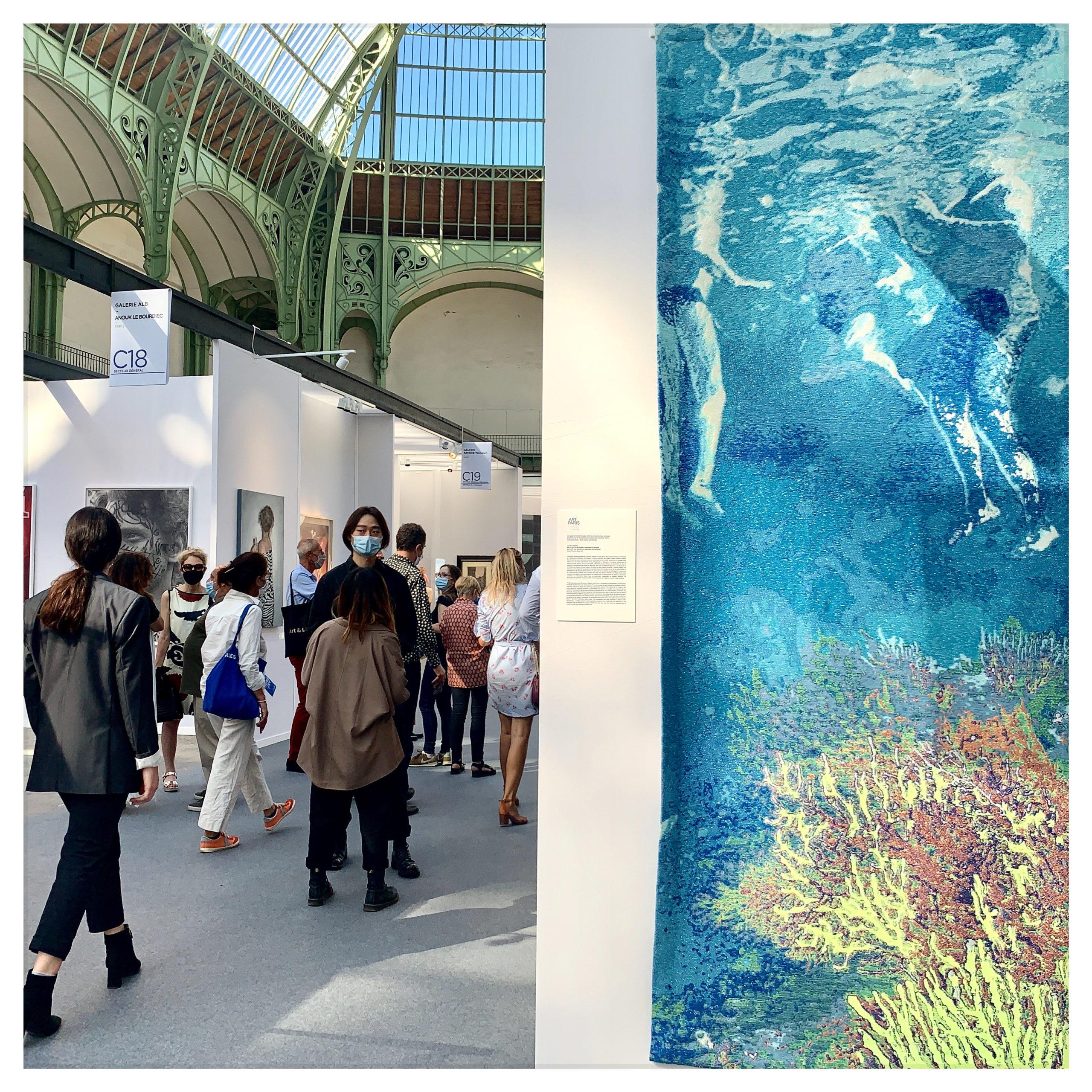 VUE du stand de la galerie Binome, Art Paris 2020.