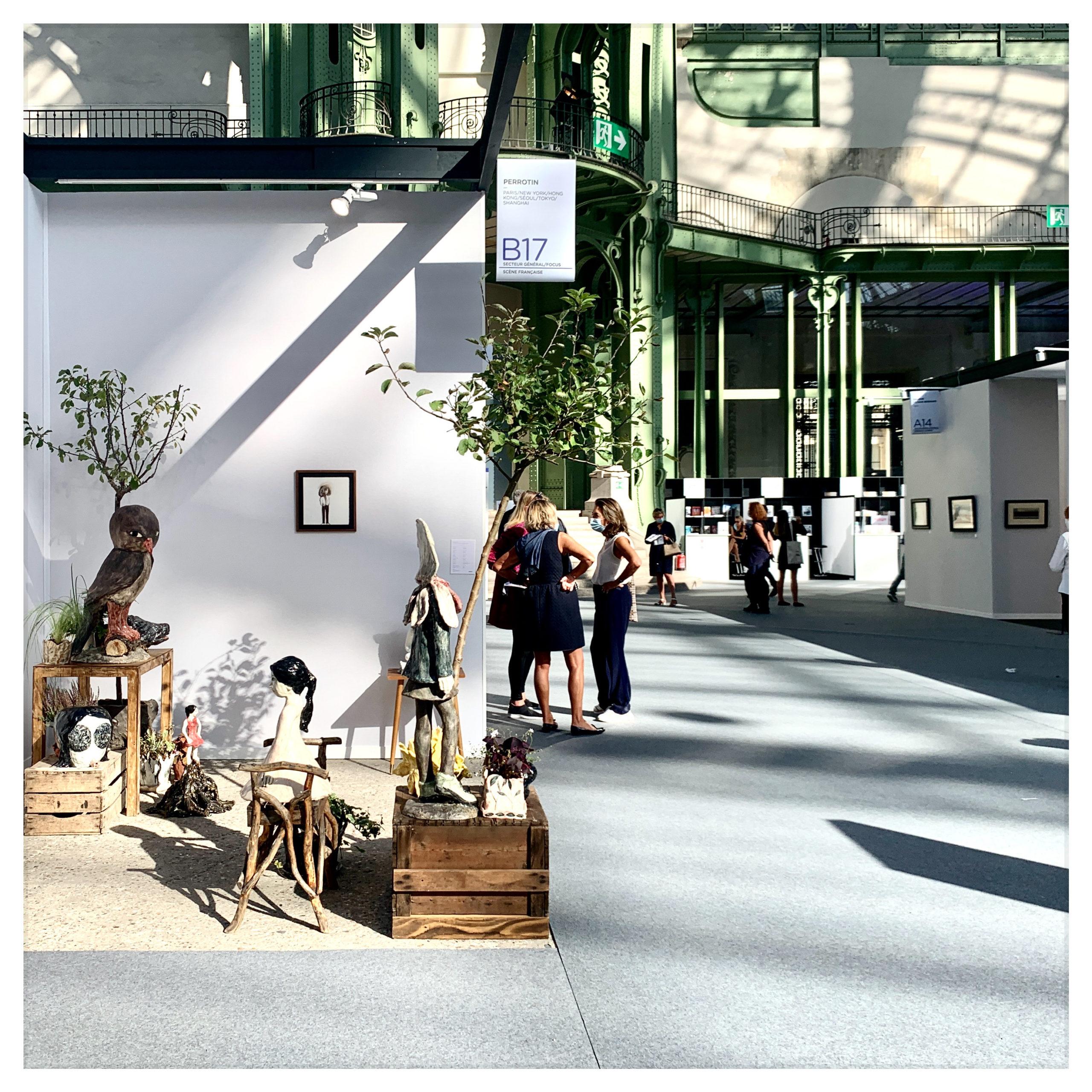 Vue du stand de la galerie Emmanuel Perrotin, ART PARIS 2020.