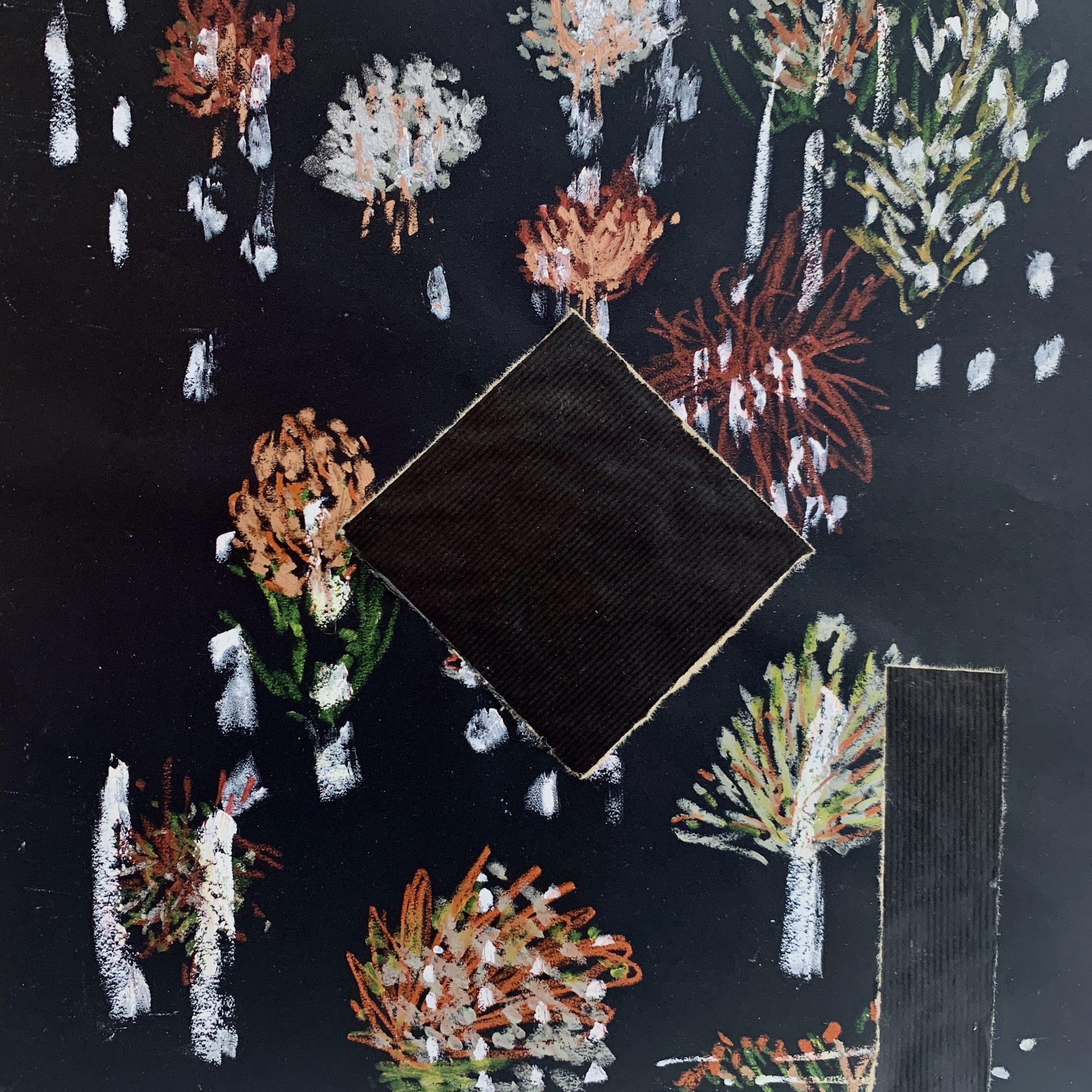 Pierre Lautier, collage. «Mauvaises graines», Paris, 22, rue Visconti. Du 18 au 22 septembre 2020. Photo artvisions.
