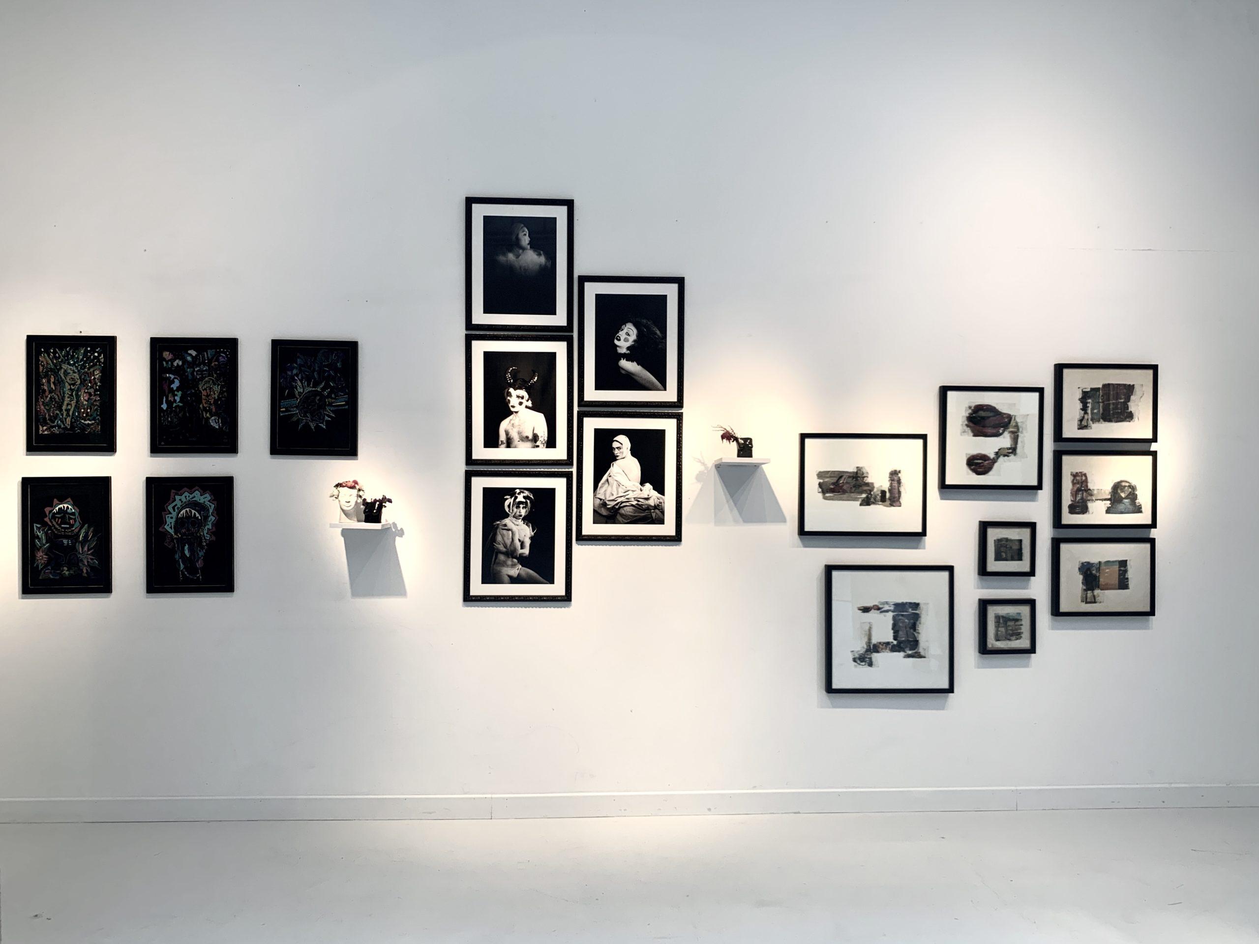 Vue de l'exposition.»Mauvaises graines», Paris, 22, rue Visconti. Du 18 au 22 septembre 2020. Photo artvisions.