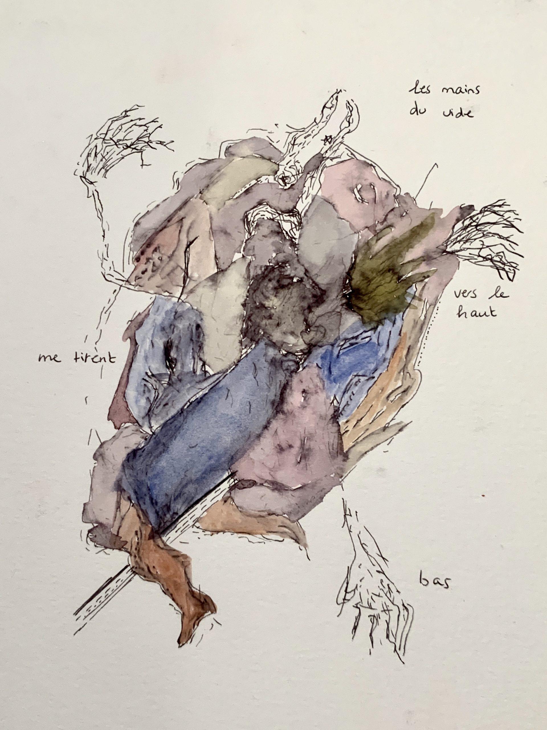 Clara Benador, dessin, «Mauvaises graines», Paris, 22, rue Visconti. Du 18 au 22 septembre 2020. Photo artvisions.