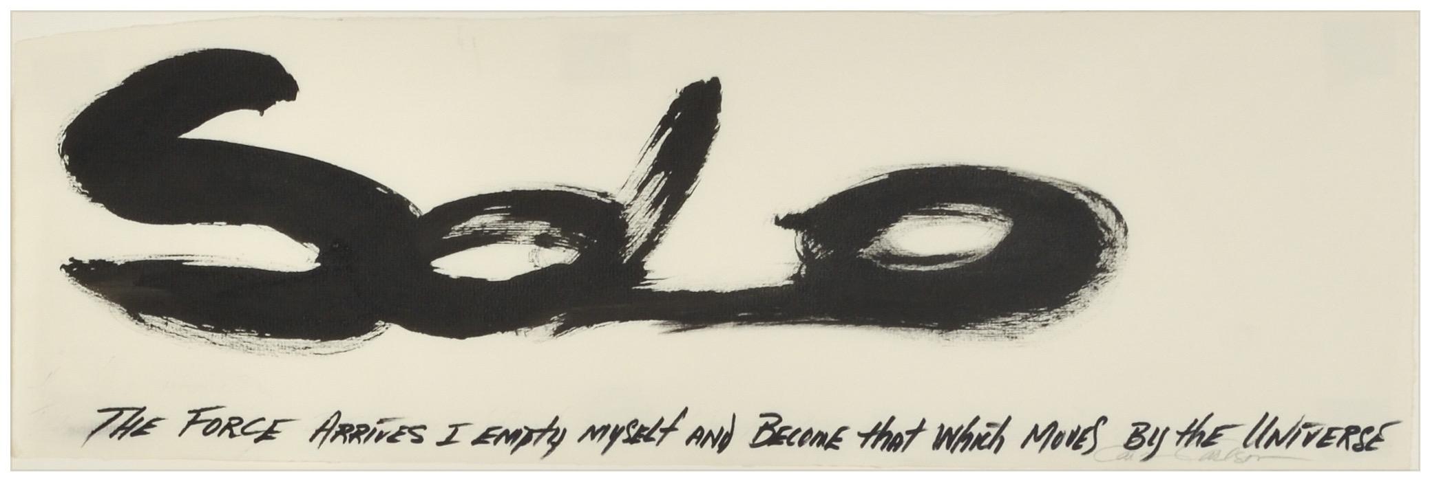 Carolyn Carlson, Solo, 2003 Encre de Chine sur papier vergé, 15,8 x 48,6 cm