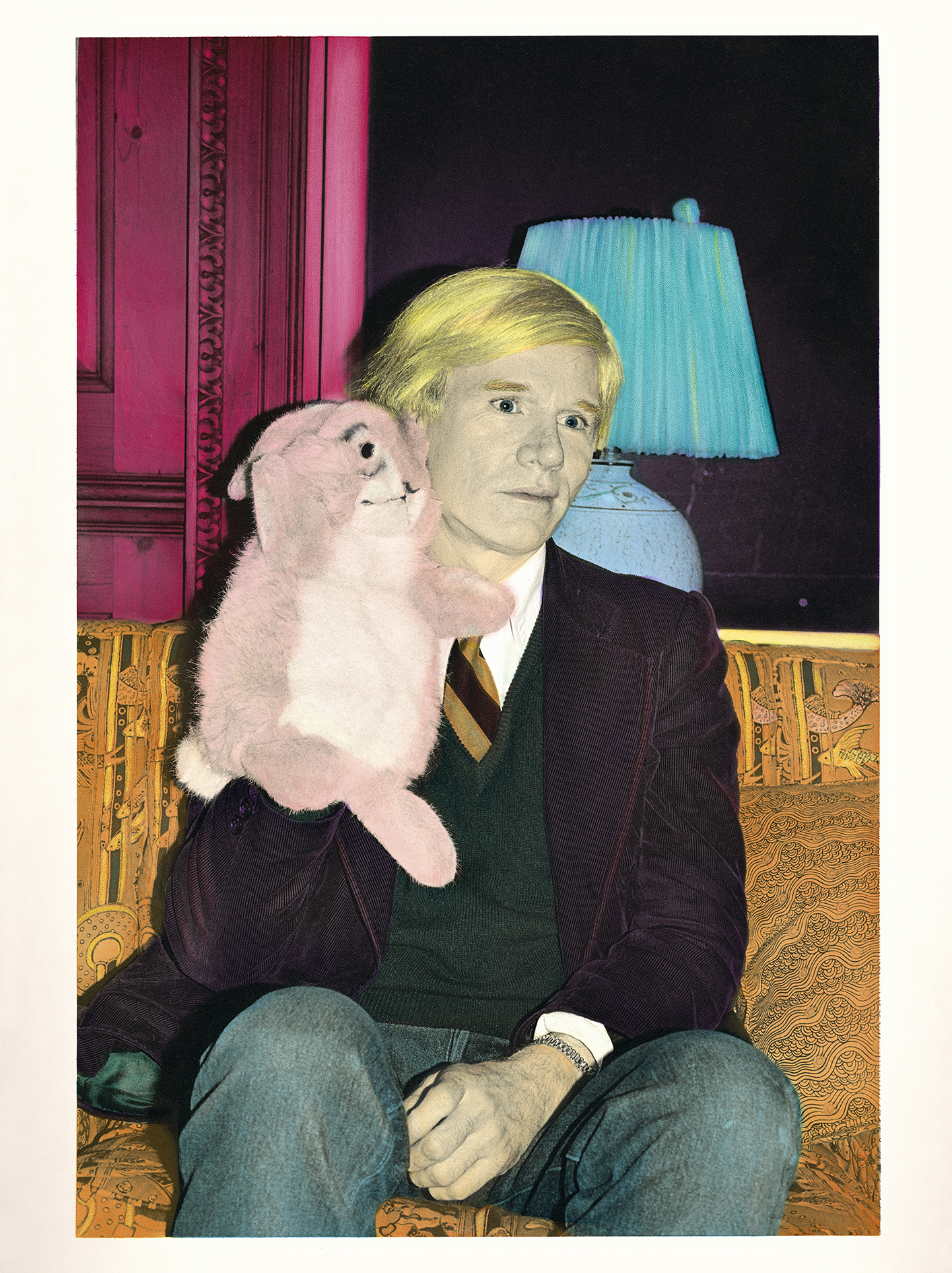 ___GALERIE PIXI – Marie Victoire POLIAKOFF ELIZABETH LENNARD Andy Warhol and the Rabbit tirage argentique sur papier métallique 55 x 42 cm 1978-2016