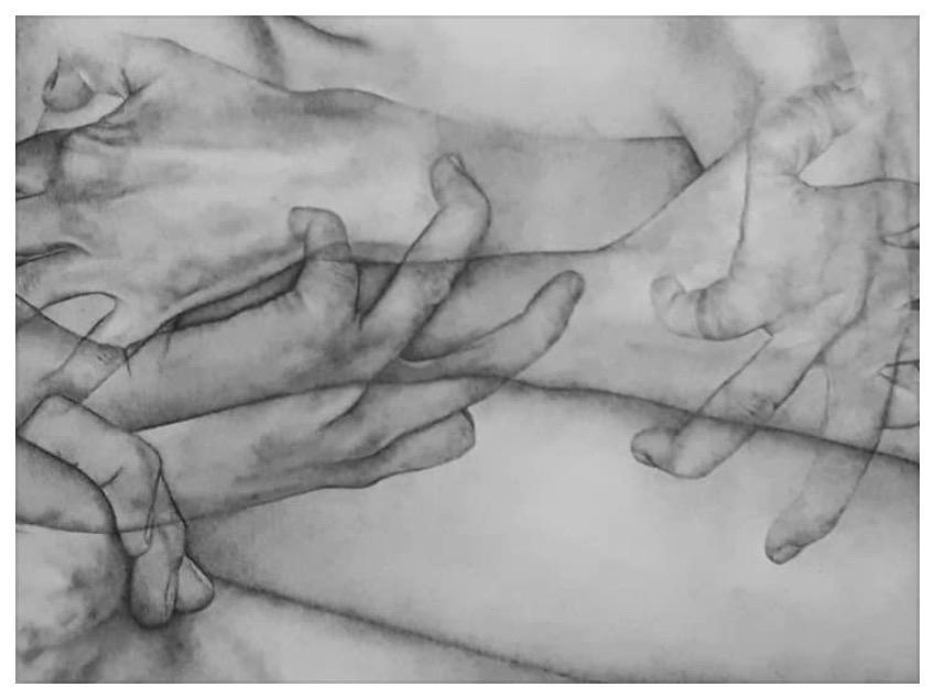 Gisèle Bonin, Série D – 2020 – Mine de plomb sur papier Velin – 50×65  1100 € dont 330€ reversés au profit de l'Association des Amis du National Museum of Women (NMWA) #aidepournmwa