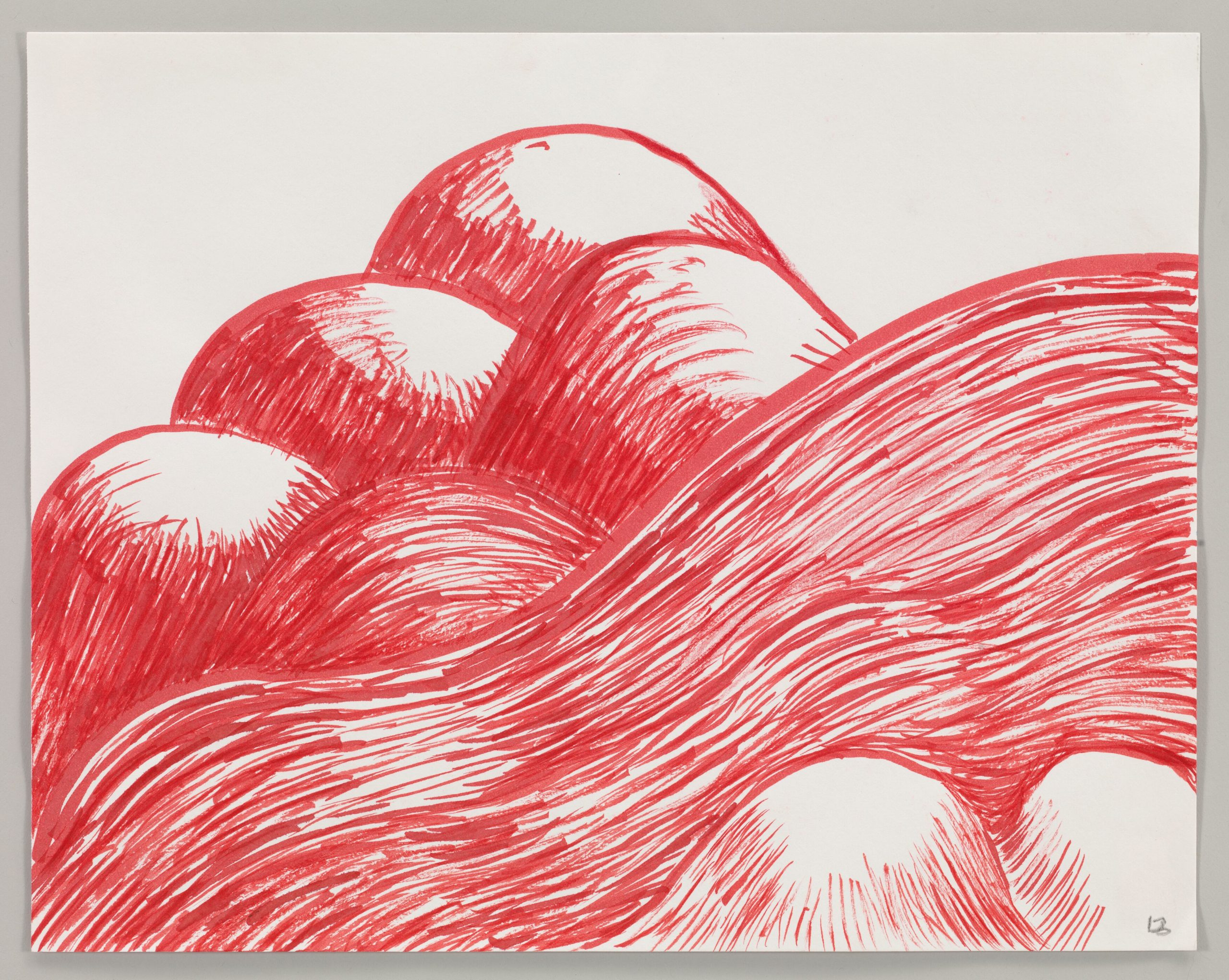 Louise Bourgeois  Untitled 2003 Watercolor on paper 22.9 x 28.9 cm / 9 x 11 3/8 in Photo: Christopher Burke © The Easton Foundation / 2020, ProLitteris, Zurich Courtesy The Easton Foundation and Hauser & Wirth