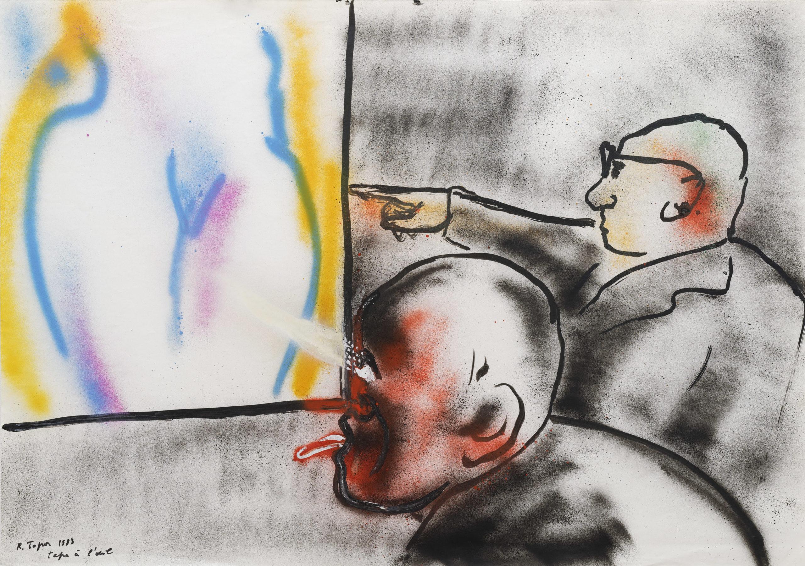 Topor-Tape à l'oeil -1983-Galerie-Anne-Barrault