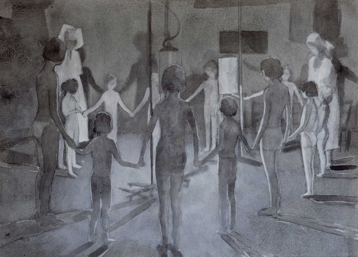 Antoine Marquis, Luminothérapie, 2012, graphite et acrylique sur papier, 52 x 72 cm © Antoine Marquis