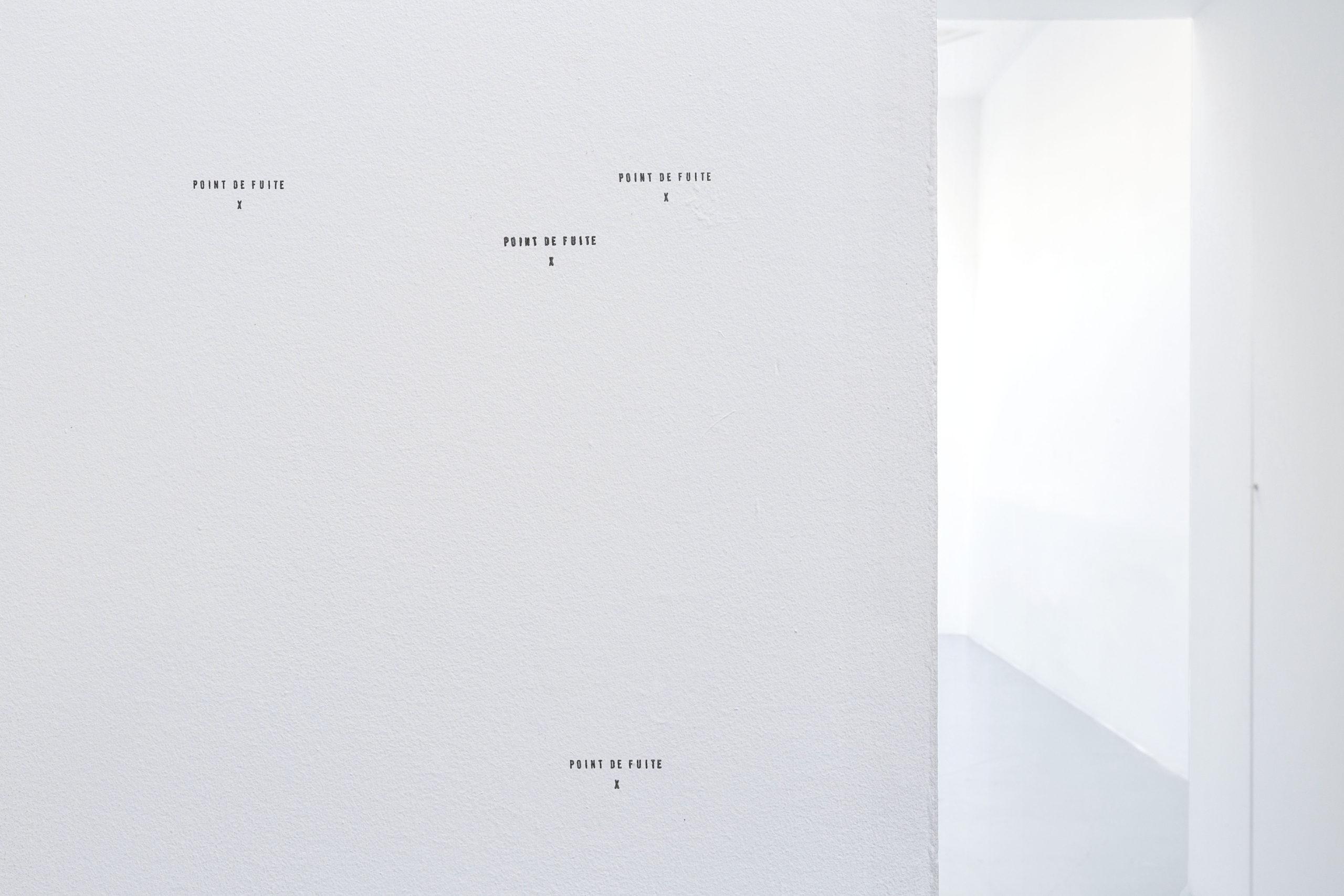 Elsa Werth, Point de fuite, 2017, tampon, encre, dimensions variables © Elsa Werth