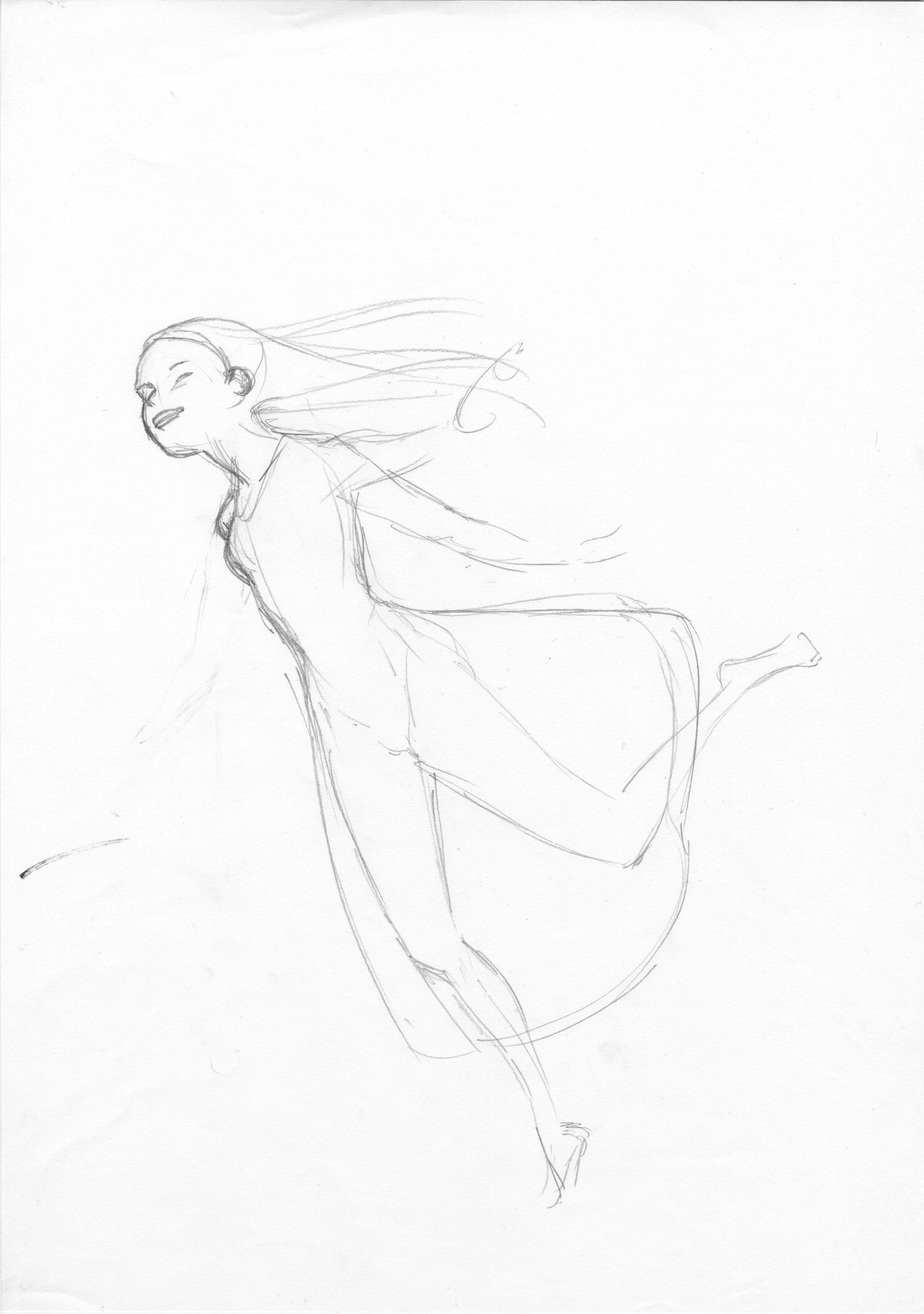 Sébastien Laudenbach, La jeune fille sans mains, 2015, maquette d'affiche, version française, encre, lavis d'encre et mine de graphite © Sébastien Laudenbach