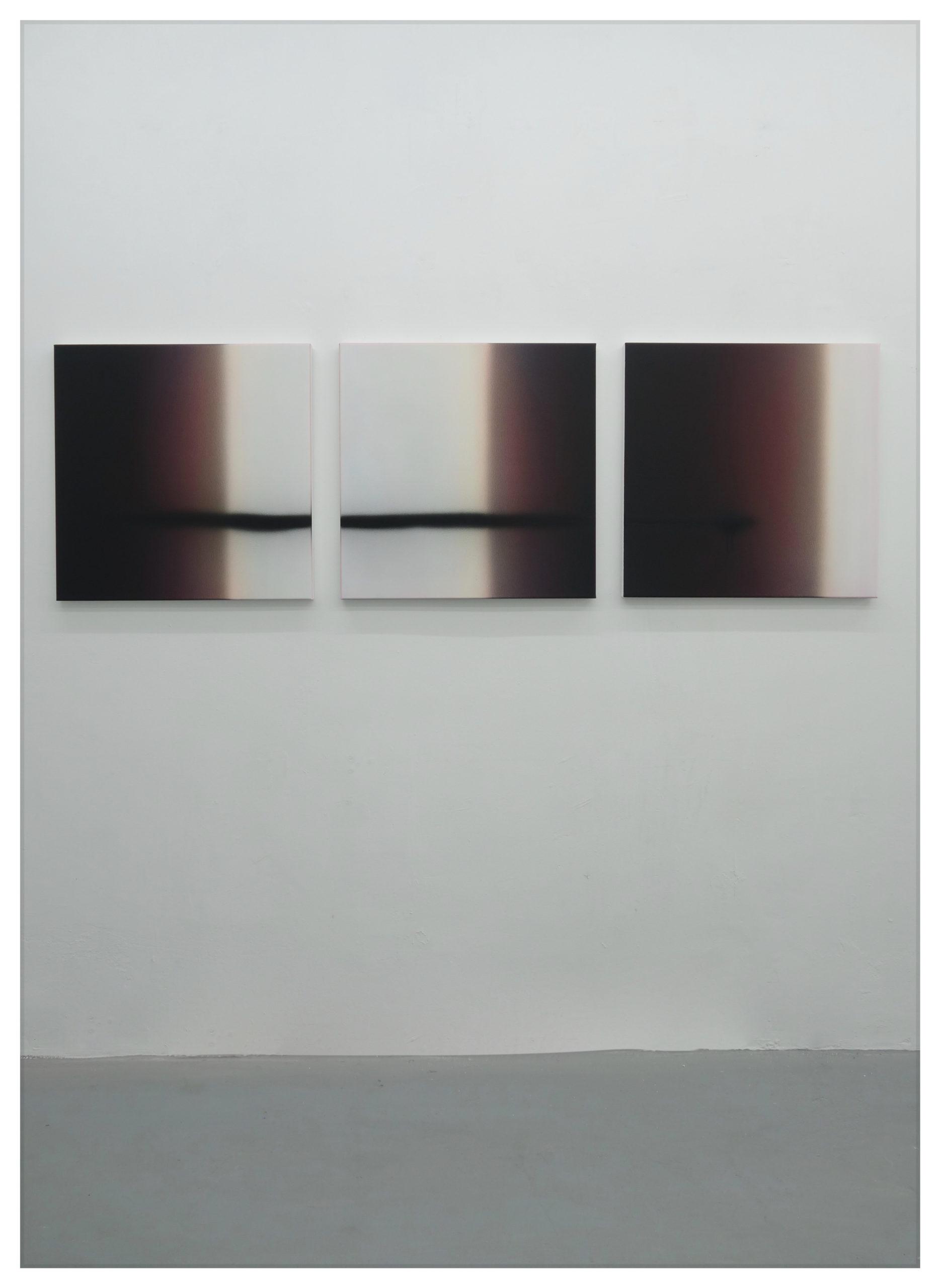 Nicolas Delprat, James, Fragmentation 4 acrylique sur toile 60×60 cm 2020, courtesy Nicolas Delprat