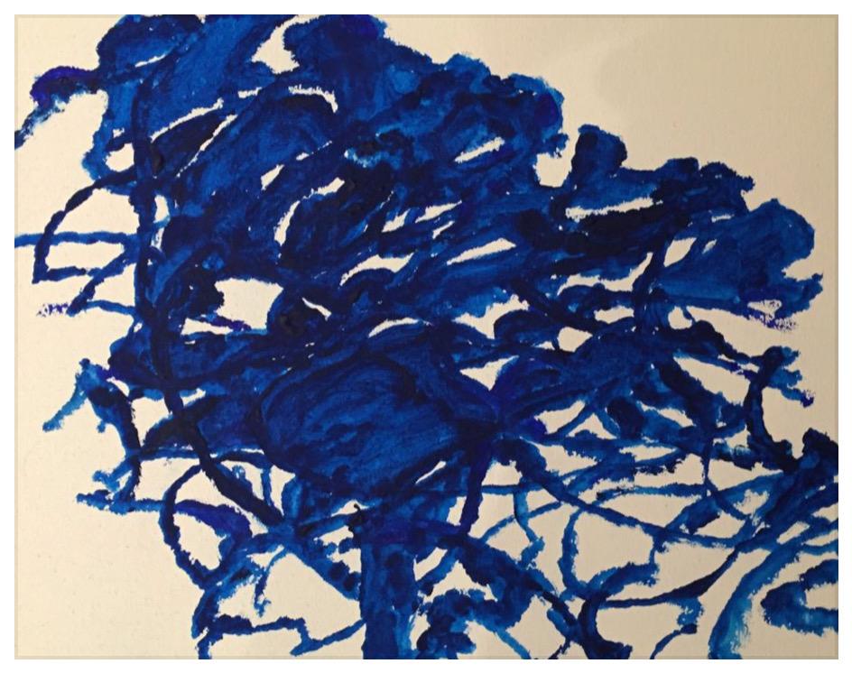 ALEXANDRE HOLLAN Chêne dansant (2020) acrylique sur toile – H 27 x L 35 cm