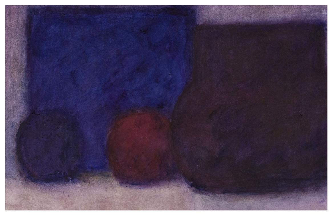 """ALEXANDRE HOLLAN Lumière dans la profondeur, """"Vie Silencieuse"""" (2020) Acrylique sur papier – H 70 x L 92 cm"""