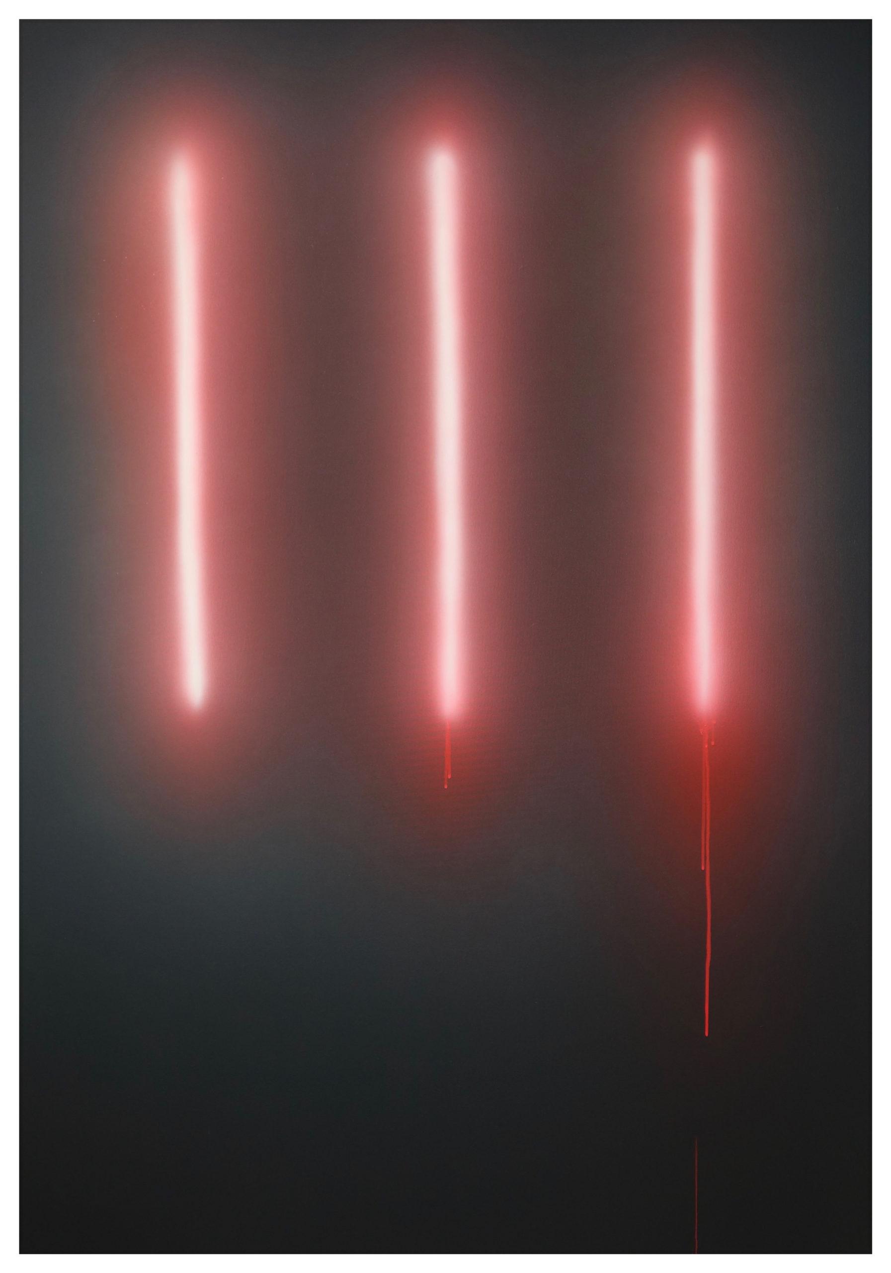 Nicolas Delprat, Dan, évolution acrylique sur toile 115 x 160 cm 2020, courtesy Nicolas Delprat