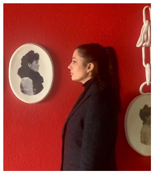 Portrait de Rachel Labastie,Exhibition view MATRIOCHKAS, ANALIX FOREVER, mars 2021, courtesy ARTVISIONS