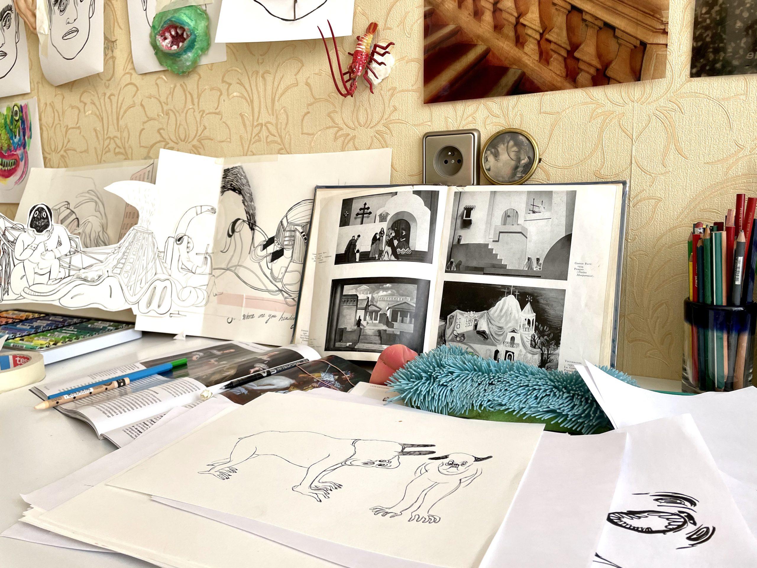Dans l'atelier de Eléonore Geissler, Drawing Factory, courtesy Artvisions