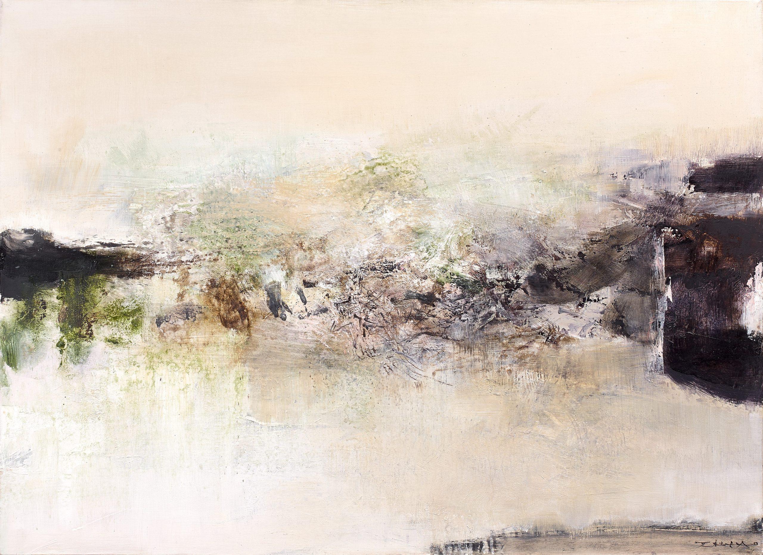 Zao Wou-Ki, 17.02.71-12.05.76, 1971-76 Huile sur toile 73 x 100 cm, courtesy galerie Mayoral
