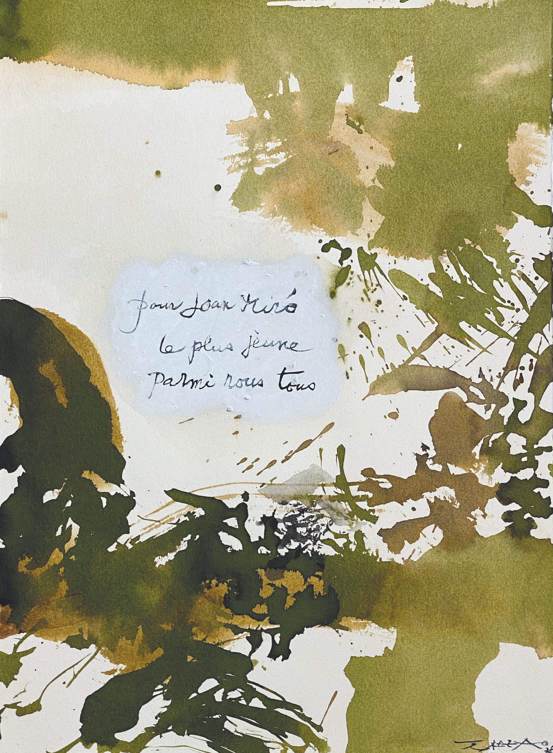 Zao Wou-Ki, Sans titre, 1978 Lavis d'encre et encre de chine sur papier 38,3 x 28,2 cm Fundació Pilar i Joan Miró, Mallorca, courtesy galerie Mayoral