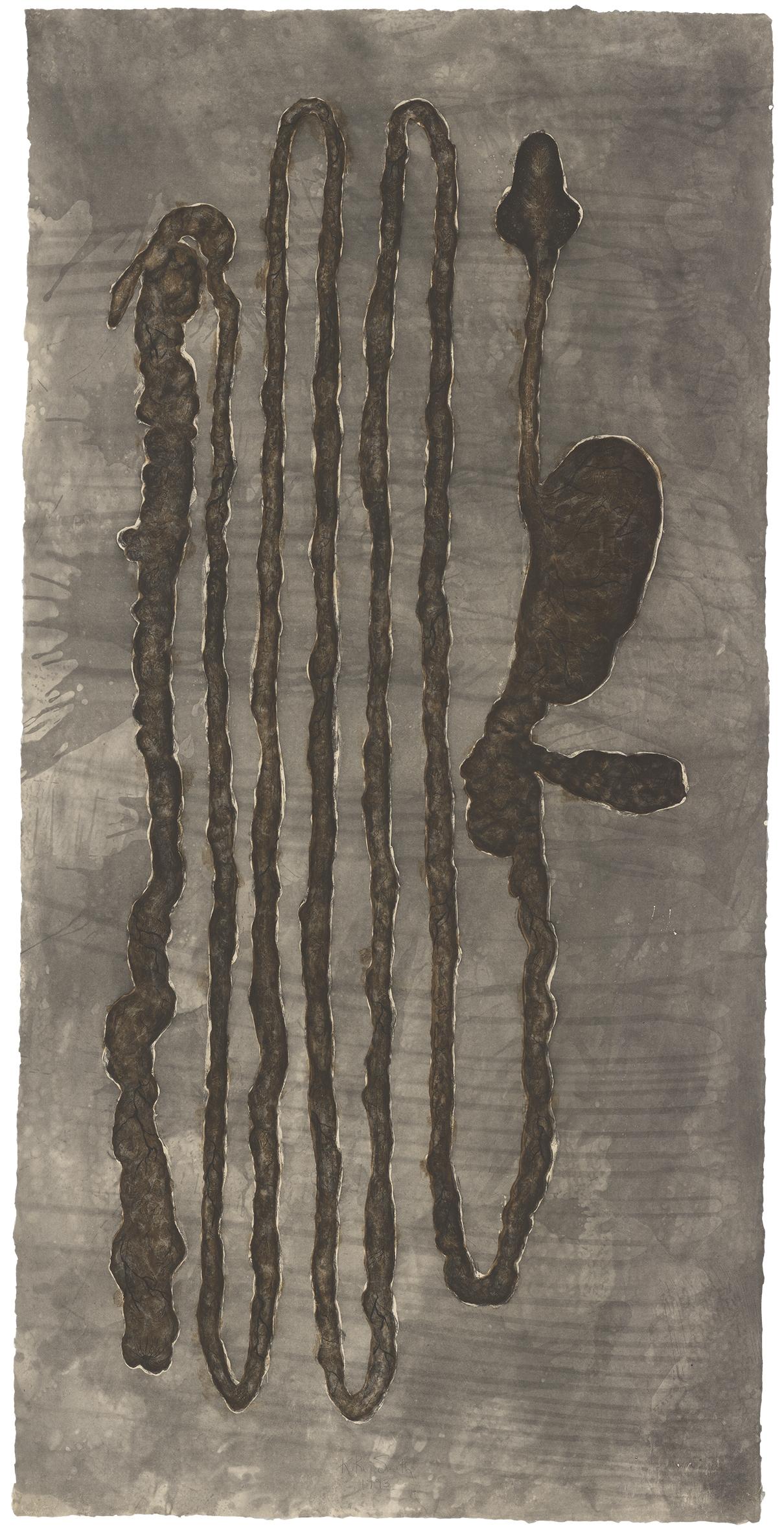 Kiki Smith Kiki Smith 1993, 1993 Gravure sur papier japonais, 33 exemplaires + 10 EA + 3 PP 185,5 x 93 cm, courtesy Galerie Lelong Paris