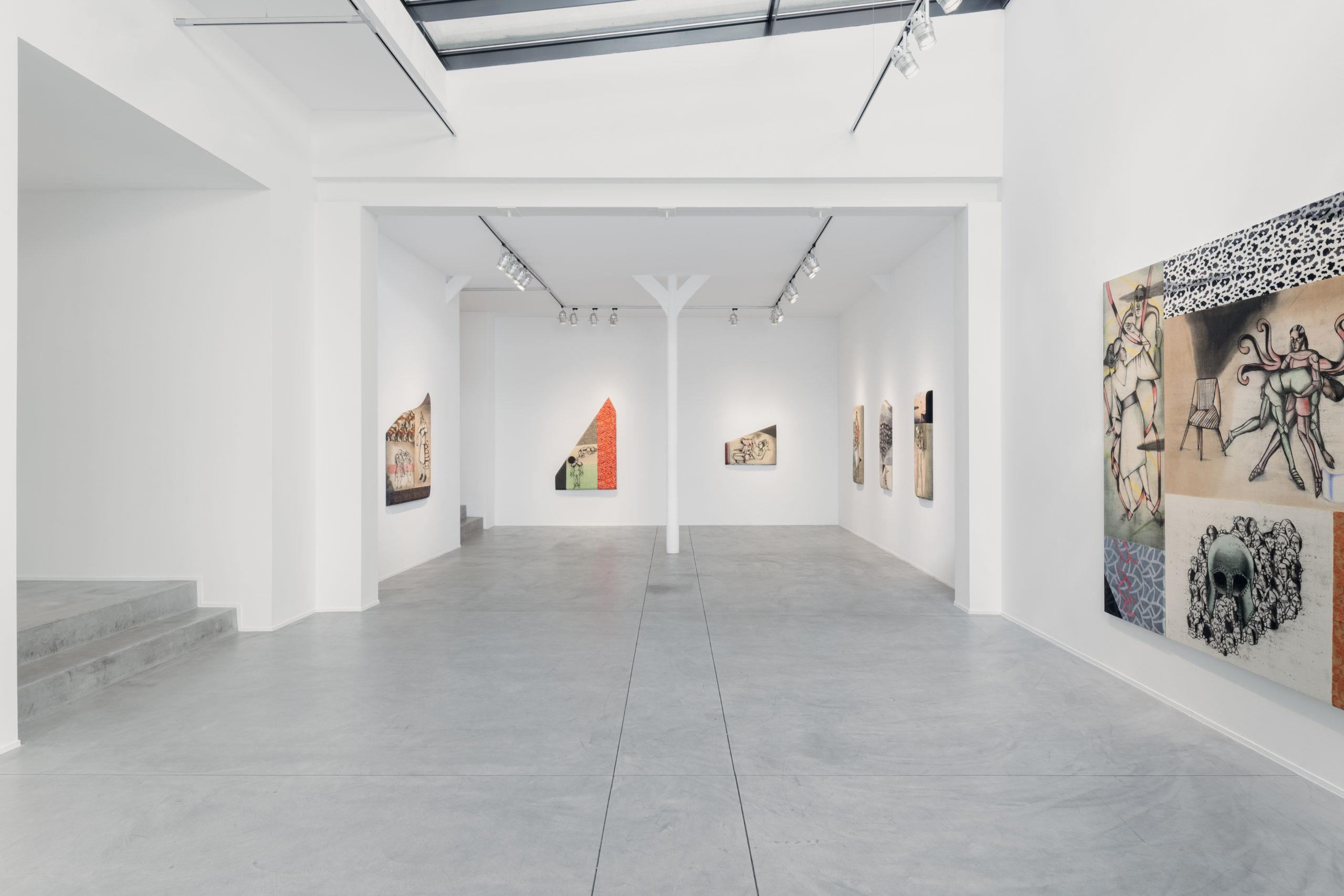Vue de l'exposition Anju Dodiya, Galerie Templon Brussels. Du 1er au 22 mai 2021. ©Hugard & Vanoverschelde ©Courtesy Templon, Paris – Brussels